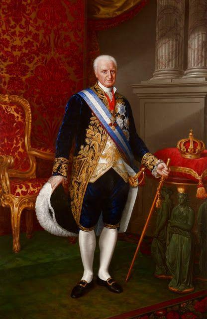 Retrato de Don Carlos IV de Borbón y Sajonia,  Rey de las Españas y de las Indias