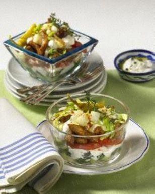 Griechischer-Gyros-Schichtsalat
