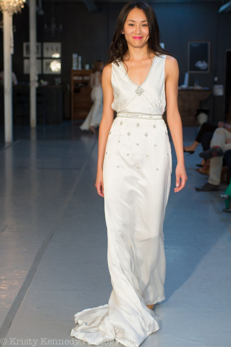 """RUNWAY: Boho- glam in the """"Amy"""" gown. andforlove.com"""
