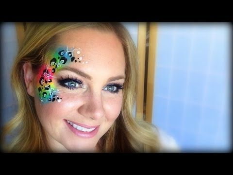 Neon Cheetah Face Painting / Makeup - YouTube