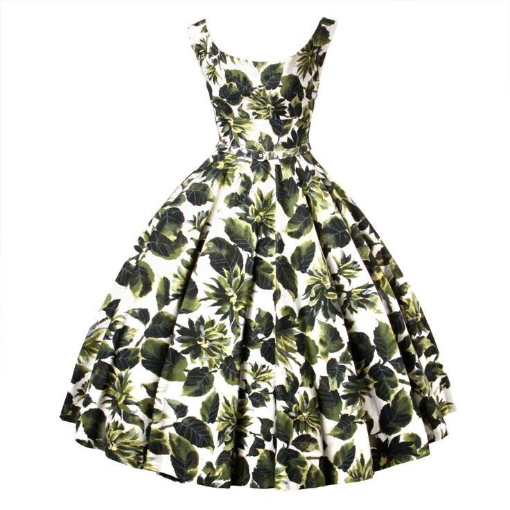 1stdibs - Vintage 1950s Printed Raw Silk Full Sweep Floral Party Dress explore items from 1,700  global dealers at 1stdibs.com