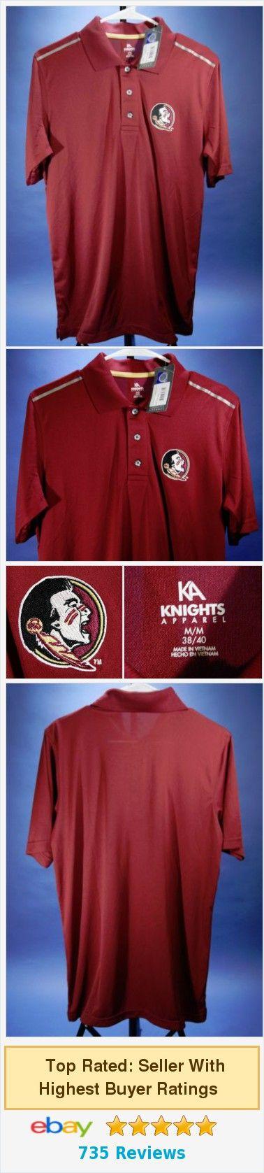 Men's Florida State Seminoles NCAA Polo Shirt NEW Medium 38/40 KA Red  | eBay