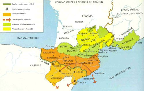 - The Crown of Aragon before the Battle of Muret.