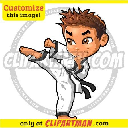 Karate cartoon Boy & Martial Arts clipart Kick - Clipartman.com