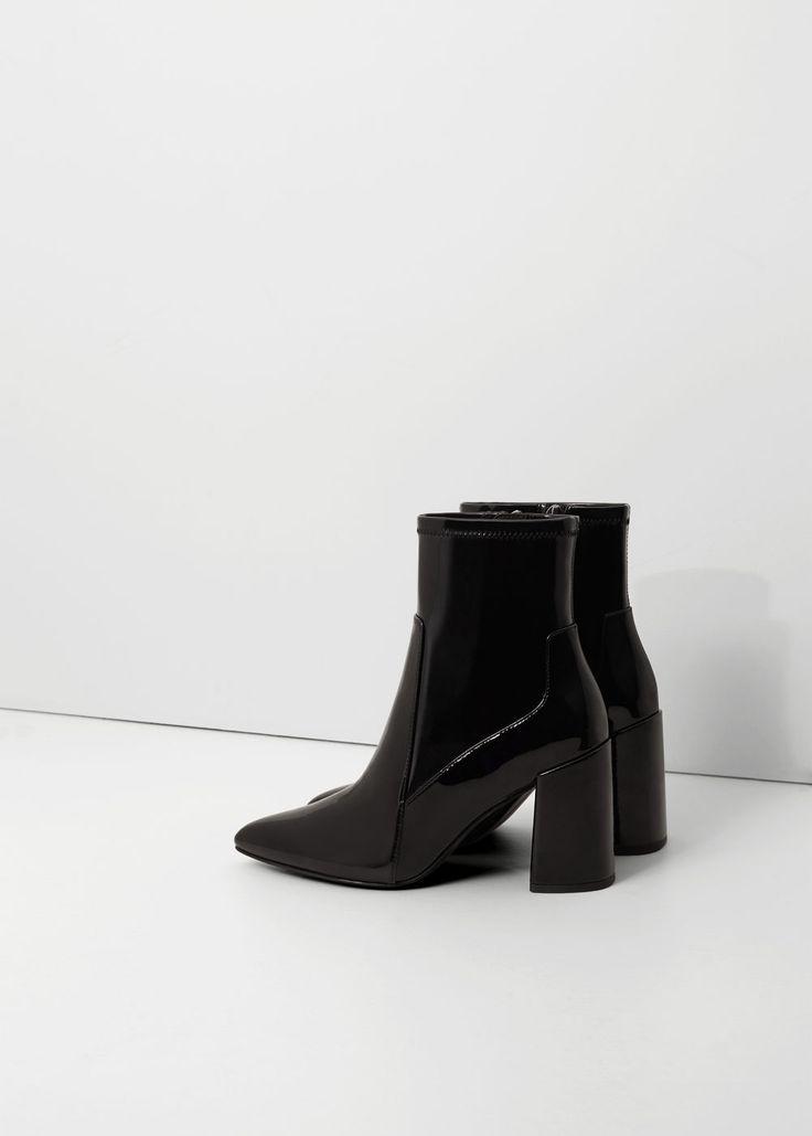 Лаковые ботинки-носки | MANGO МАНГО