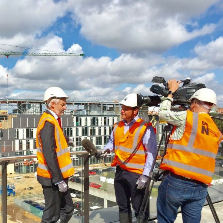 BBC cameras go behind the scenes of our new campus
