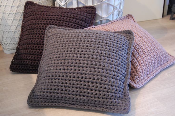 Free Crochet Patterns Zpagetti : #pillow #Zpagetti #crochet #grey Products I made ...