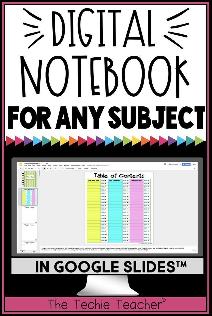 Digital Notebook For Any Subject In Google Slides Digital