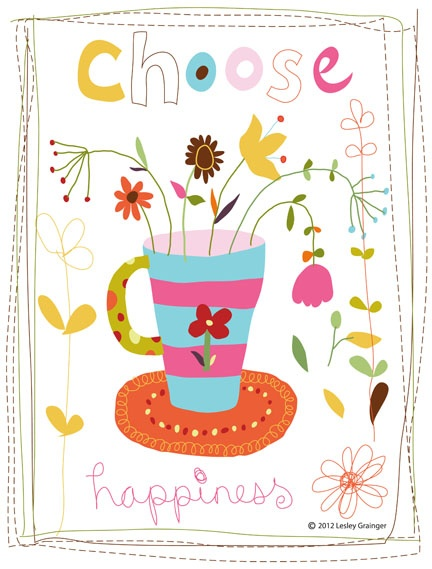 Choose happiness by Lesley Grainger