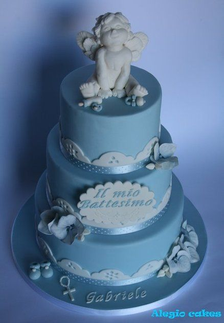 Blue Angel Cake