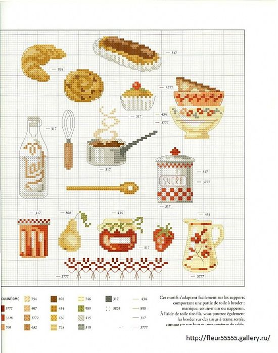 17 best images about tiny cross stitch designs on for Kitchen patterns and designs