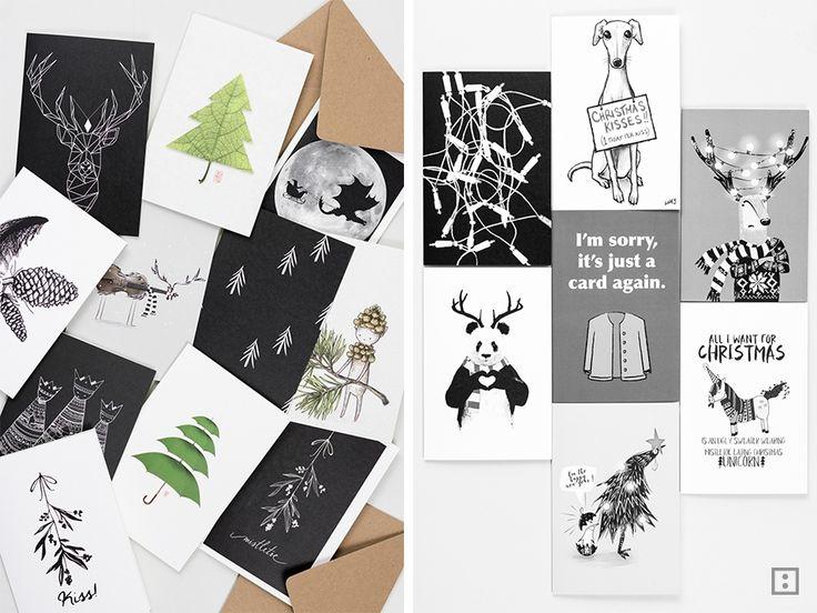 kreative Weihnachtskarten von Redbubble als Adventskalender
