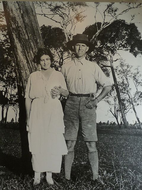 Karen Blixen with  her brother Thomas Dinesen, see comment below for more.. (not as we romantics would like to think, 'Great White Hunter' Denys Finch Hatton (redford played him in the movie of Out of Africa, Meryl Streep was Karen)