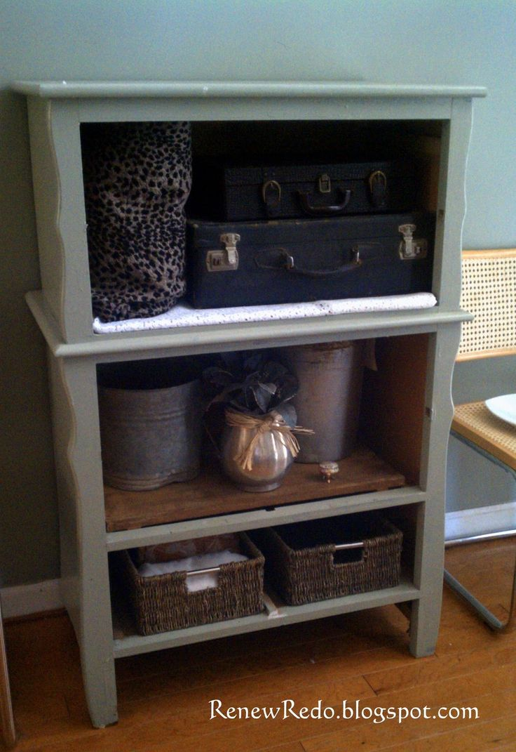 renew redo repurposed chest of drawers i 39 m gonna try this diy furniture pinterest the. Black Bedroom Furniture Sets. Home Design Ideas