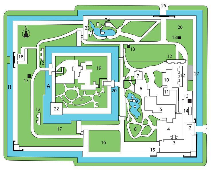 Nijo castle map trip to japan pinterest nijo castle for Castle design plans