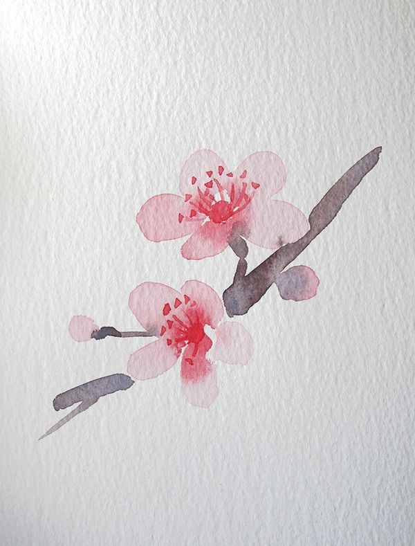 """Spring Playlist Song #5 :: """"Cherry Blossom"""" by Paolo Nutini :: watercolor by Wang Jing on Behance"""
