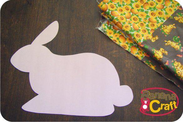 coelho da pascoa de tecido