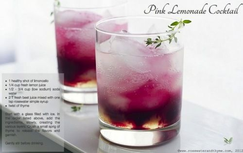 ** Rosewater Simple Syrup – add 1 cup sugar into 1 cup water in a saucepan over medium high heat.  Bring to slight simmer and ensure all sugar is well dissolved.  Let cool to room temperature.  Add 2 tsp rosewater.  Store in airtight container.