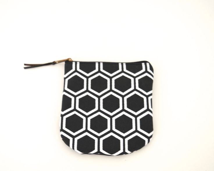 Black cotton pouch, Screenprint japanese pattern coin pouse, Small zipper pouch, Fabric pouch by UMEHARAKABAN on Etsy