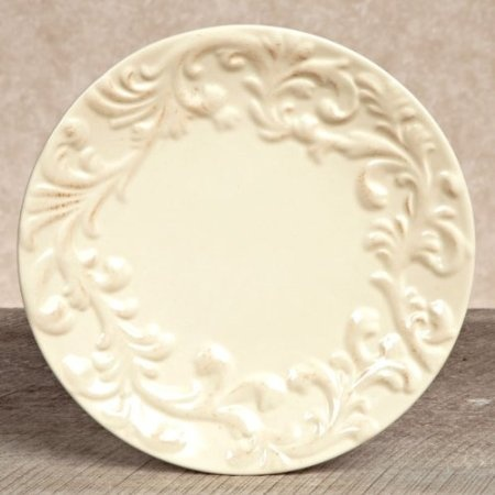 Amazon.com: GG Collection Gracious Goods Cream Dinner Plates: Kitchen & Dining