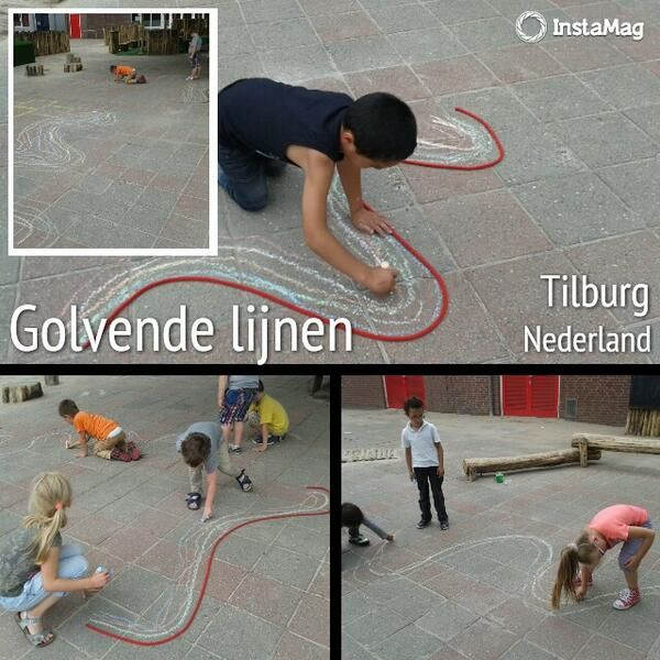 Foto schrijven op het schoolplein