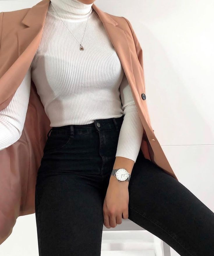 White shirt with a cute blazer  #blazer #Cute #Fashionbusinessprofessionalattire... 1