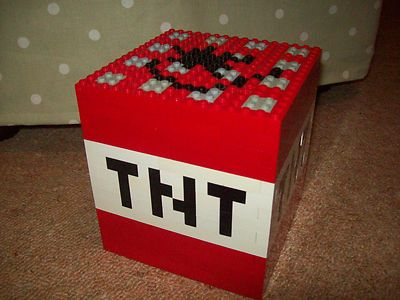 Lego Minecraft Custom Built TNT Block with Instructions | eBay