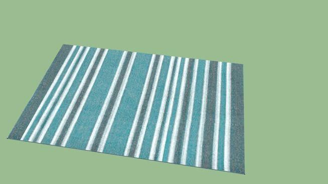 tappeto a righe azzurro - 3D Warehouse