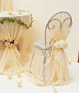 Decoración Silla Boda