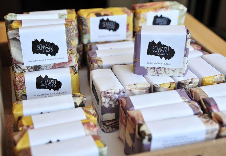 Vegan soaps by Semasu. All soaps contain natural essential oils.  Photo: www.gizemsisman.com