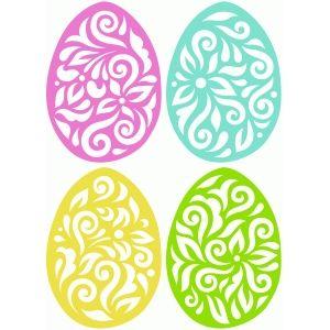 Silhueta Design Store - Ver Projeto # 56967: 4 ovos de páscoa floresça