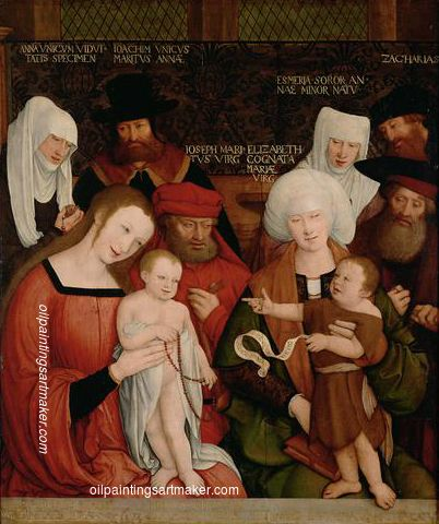 Bernhard Strigel Holy Family, 1520 Painting sale, painting Authorized official website