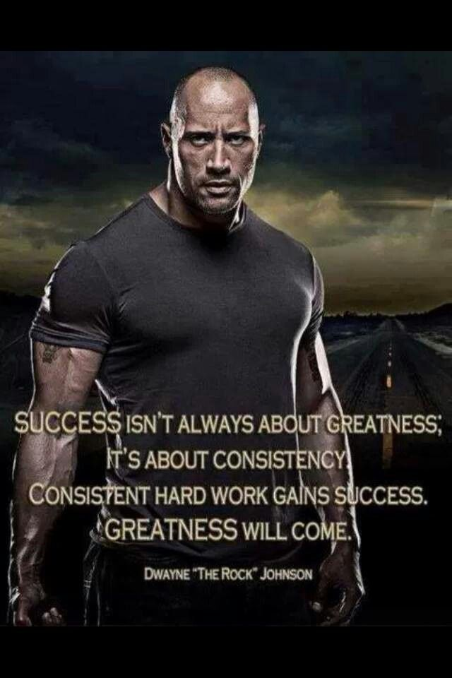 Consistent hard work gains success. Greatness will come. So proud of all the hard work  you do to stay healthy for all of us :)
