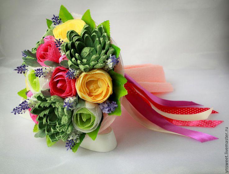 Купить Букет из конфет - Эхеверия и розы - букет из конфет, букет, конфетный букет, конфетные букеты