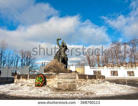 Murmansk, Russia - March  2016:The Monument to Anatoliy Bredov. Murmansk - stock photo