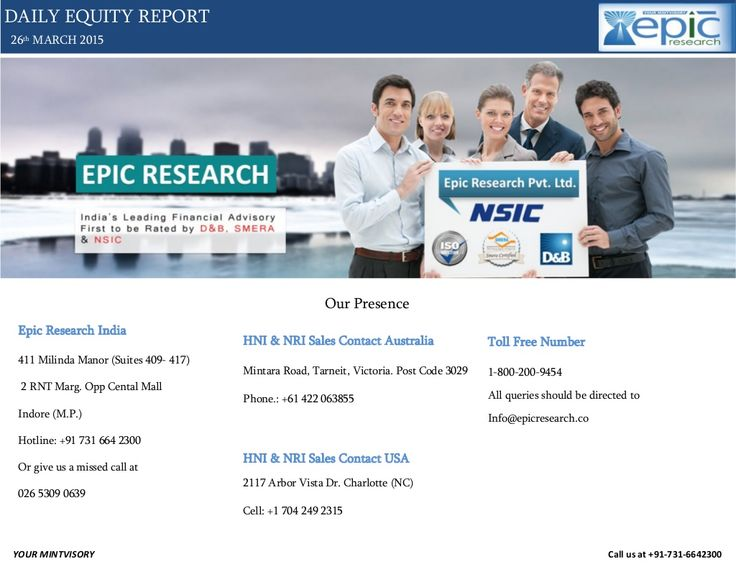 Epic research daily equity report of 26 march 2015 by Epic Research Private Limited via slideshare