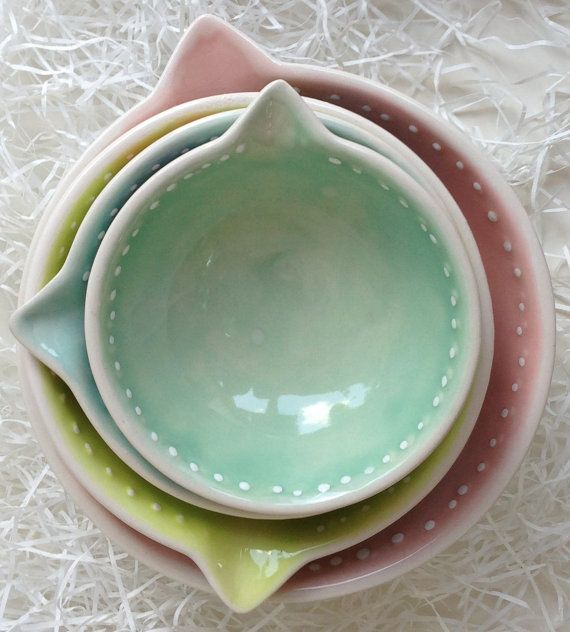Ceramic Measuring Cups by beceramics on Etsy