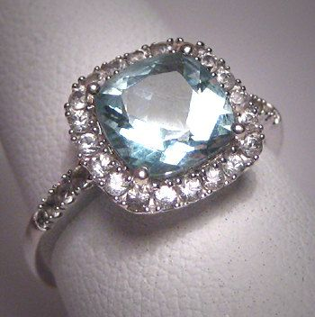 Vintage Aquamarine Wedding Ring. My kind of ring! Unique, pretty, and vintage.