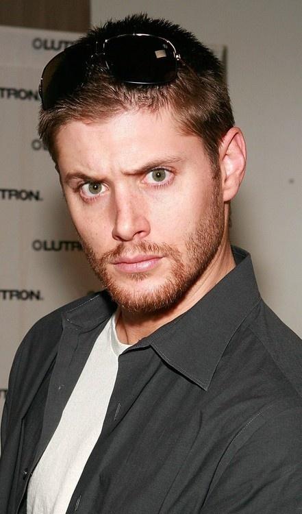 Jensen Ackles...facial hair and crazy eyes makes my panties fall down
