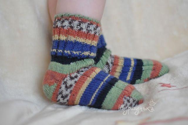 Шуршунькины рукоделки: Разноцветные носочки)