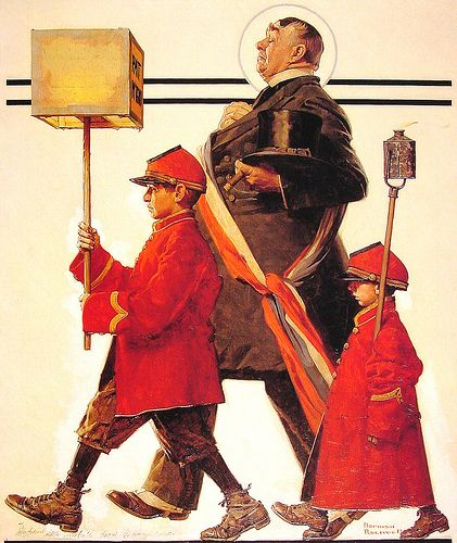 1924- Parade- by Norman Rockwell