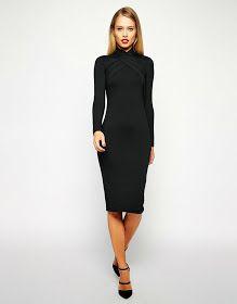 Modest black midi below the knee dresses   Mode-sty #nolayering