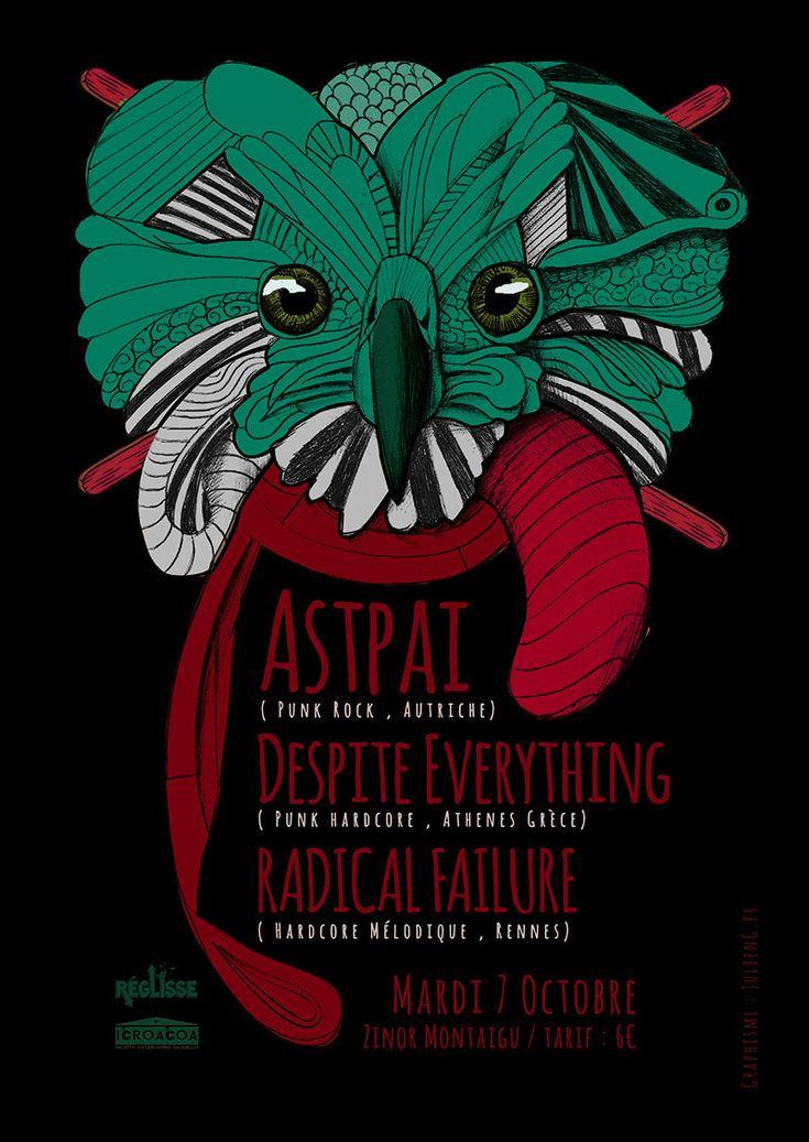 Création affiche de concert | JulienG Webdesigner graphiste Création de sites