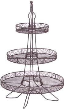 Amazon.com: ACACIA EIFFEL TOWER 3 TIER CUPCAKE STAND - 35 CUPCAKES: Home & Kitchen