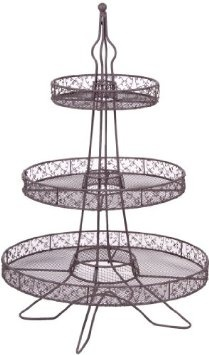 Amazon.com: ACACIA EIFFEL TOWER 3 TIER CUPCAKE STAND - 35 CUPCAKES: Home & Kitchen