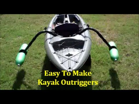 This video shows an easy way to add Outriggers to your kayak. These Outriggers (Pontoons / Stabilizers) are made from materials you can find at most Big Box ...