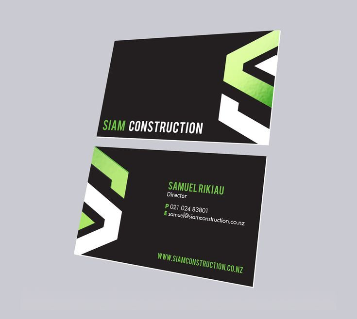 Siam Construction Simply Whyte Design Business Card Design Business Card Business Card Design Creative Business Card Design Simple Business Cards Creative