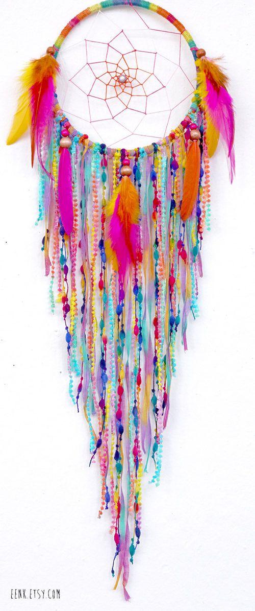 Sherbert Fairy Native Style Woven Dreamcatcher