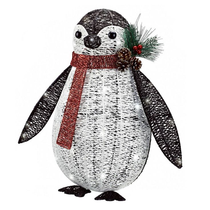 Philips Christmas Penguin Glitter Novelty Sculpture with