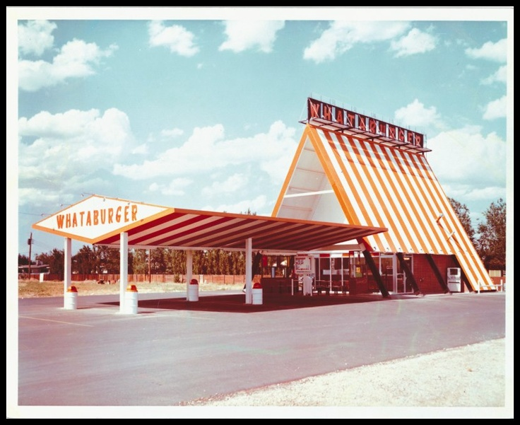 "The first ""Whataburger"" A-frame, Odessa, Texas"